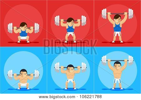 Weightlifting animation frames