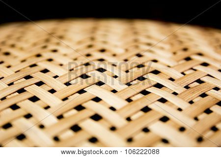 Weave Texture Wicker Surface For Furniture Material.center Focus.