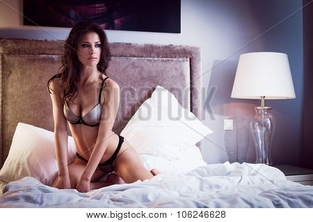Sexy lingerie in hotel