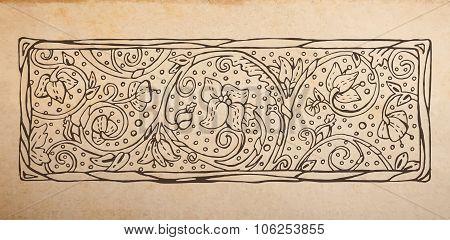 Floral Decorative Vignette