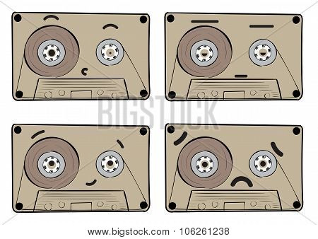 Audio cassette with emotions