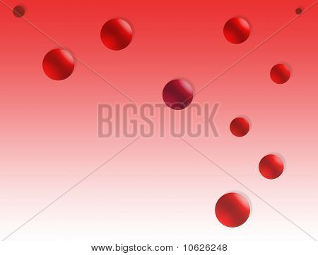 Abstract Background, Red Buble
