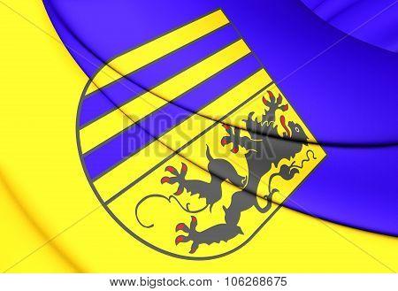 Flag Of Chemnitz (saxony), Germany.
