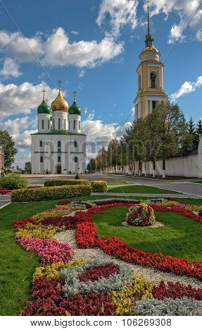 Square In Historical Part Of The Small Russian Town
