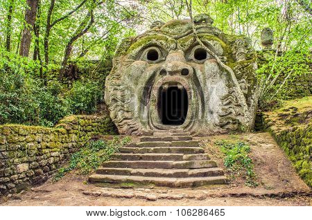 The Orcus Statue In Bomarzo Gardens - Lazio - Italy Travel