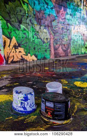 Berlin, Germany July 06, 2015: Street Art In Berlin At The Teufe