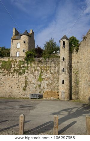 Part Of The City Wall, Dinan, Brittany, France