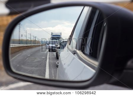 Traffic Congestion View Mirror
