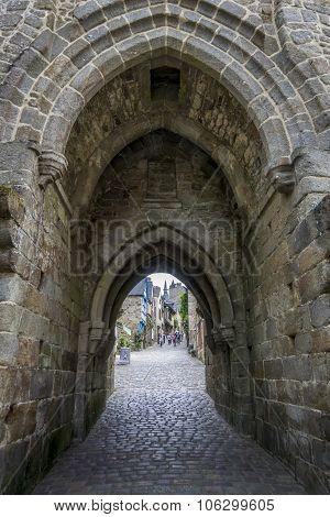 Dinan City Wall Gateway, Brittany, France