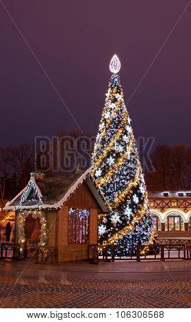 Christmas Tree And Santa's House