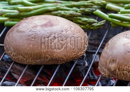 Grilling Portobello Mushrooms