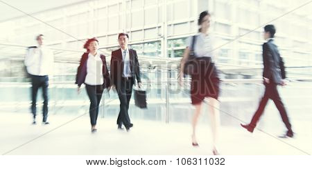 People commuting in Hong Kong Pedestrian Concept