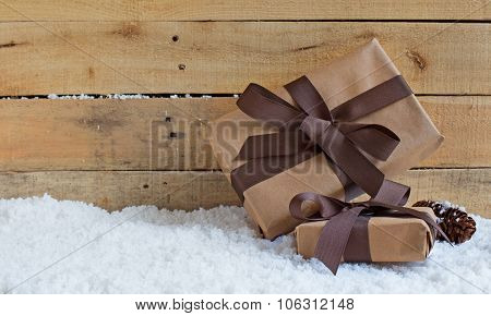 Holiday Presents On Snow
