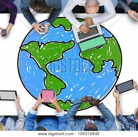 Global Networking Communication Economy Worldwide Concept