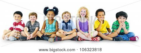 Children Kids Happiness Multiethnic Group Cheerful Concept