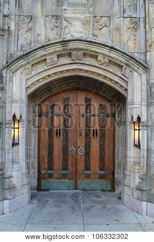 A door entrance Yale University