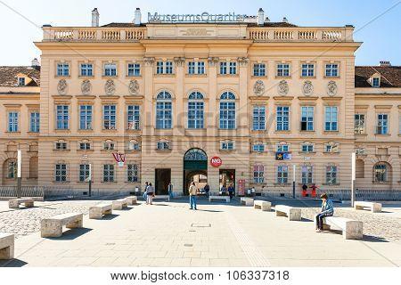 Main Entrance Of The Museum Quarter, Vienna