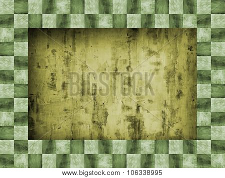 The Green Wooden Frame Of Squares In A Checkerboard Pattern