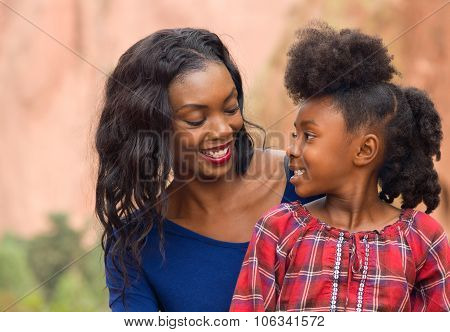 Afro Mother And Child