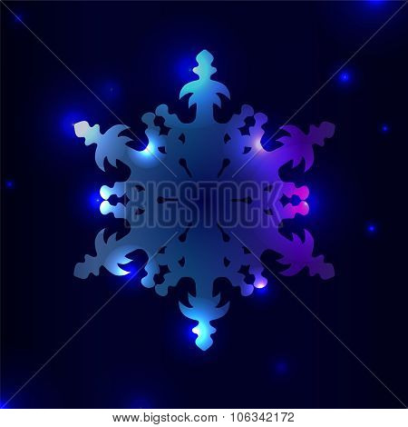 Winter Background With Isolated Snowflakes. Stock Vector Illustration