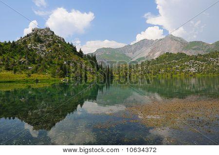 Sary-Chelek lake and mountains