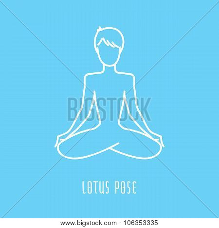 Yoga Pose Line Icon