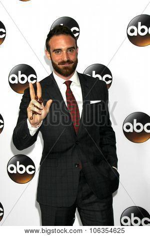 LOS ANGELES - JAN 14:  Joshua Sasse at the ABC TCA Winter 2015 at a The Langham Huntington Hotel on January 14, 2015 in Pasadena, CA