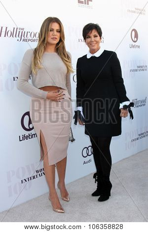 LOS ANGELES - DEC 10:  Khloe Kardashian, Kris Jenner at the 23rd Power 100 Women in Entertainment Breakfast at the MILK Studio on December 10, 2014 in Los Angeles, CA