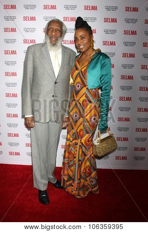 SANTA BARBARA - DEC 6:  Dick Gregory, Ayanna Gregory at the