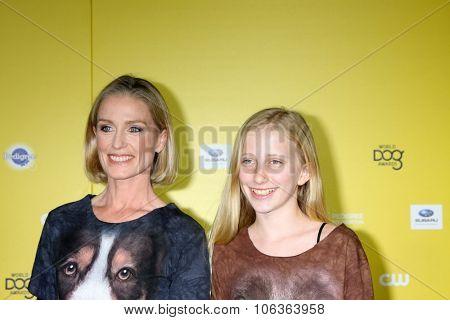 LOS ANGELES - JAN 10:  Jessica Tuck, Samara Koseff at the CW Network presents