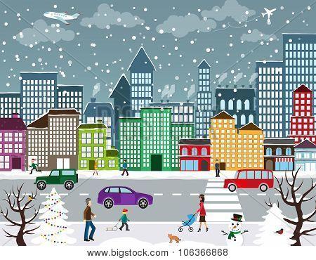 Winter Urban Landscape