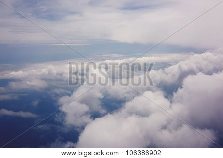 View from the plane of a beautiful clouds