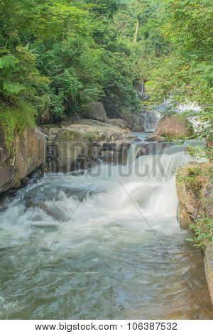 Nang-rong Waterfall In Nakorn- Nakyok Province, Thailand