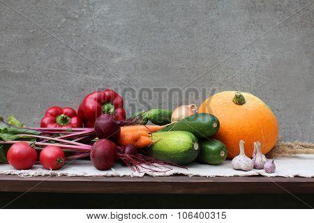 Set of different vegetables.