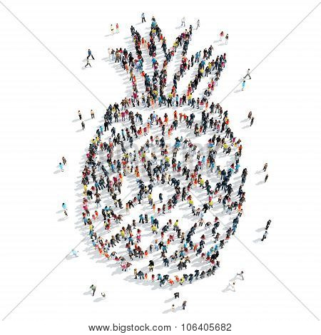 group  people  shape  pineapple