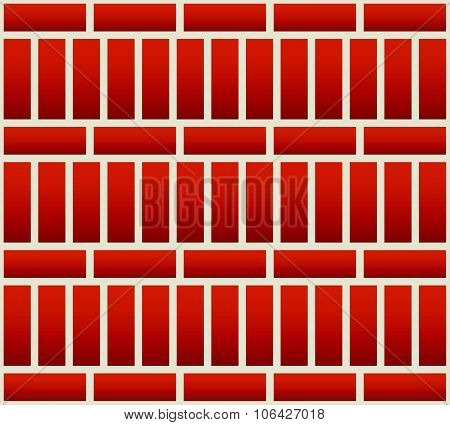 Repeatable Brick Wall Background / Pattern With Alternating Layout