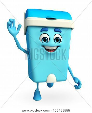 Dustbin Character Is Running