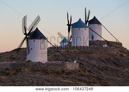 Windmill At Consuegra, La Mancha, Spain