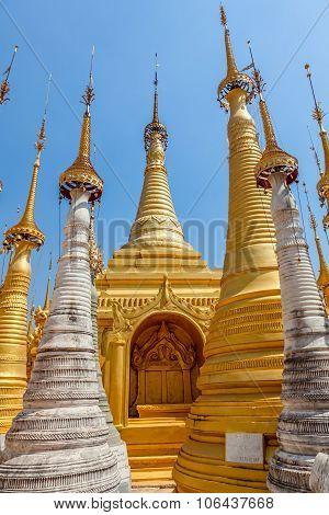 Indein stupas, Inle Lake