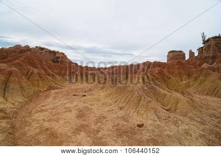 Another Planet Like Crazy Terrain Of Tatacoa Desert