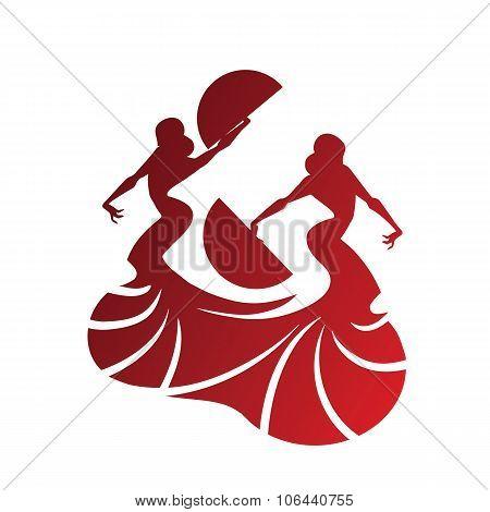 flamenco dancer holding spectacular pose