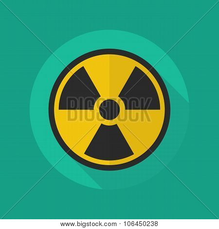 Medical Flat Icon. Radiation Symbol