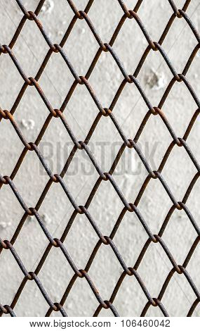 Close up of chain link fence section poster