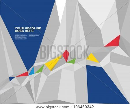 Vibrant Colorful Prism Design Template