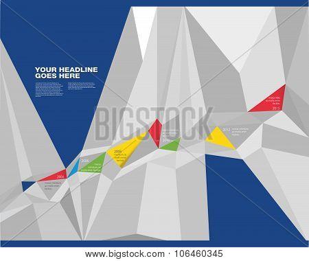 Vibrant Colorful Prism Timeline Design Template