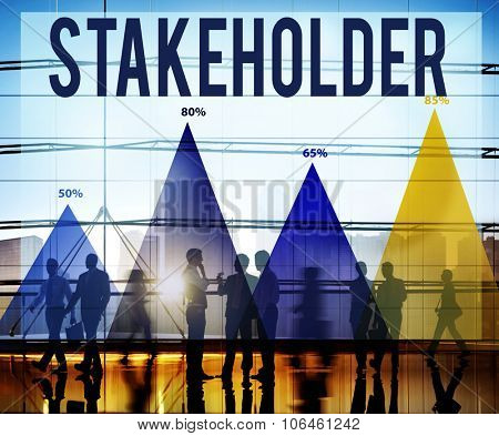 Stakeholder Corporate Deal Holding Partner Concept poster