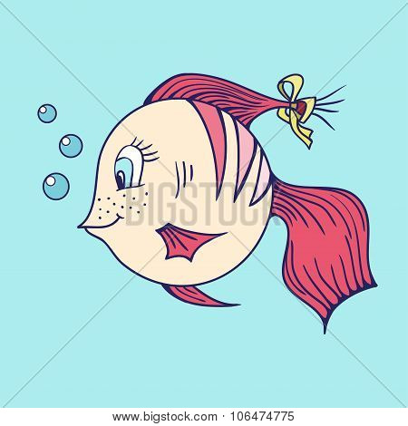 Fish in the sea.