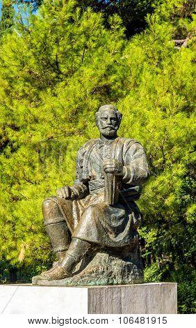 Statue Of Petar Ii Petrovic-njegos In Podgorica - Montenegro