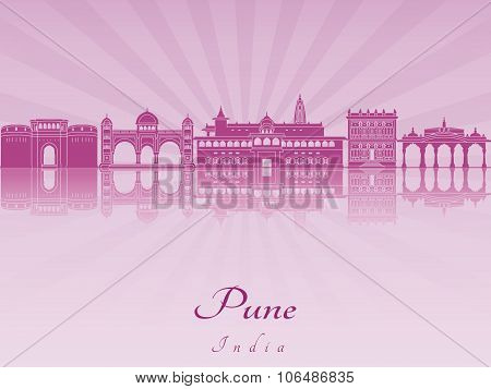Pune Skyline In Purple Radiant Orchid