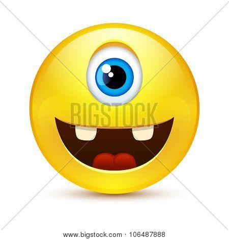 One-eyed Happy Smile